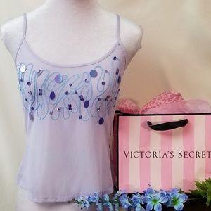 VICTORIA'S SECRET Light purple sheer cami